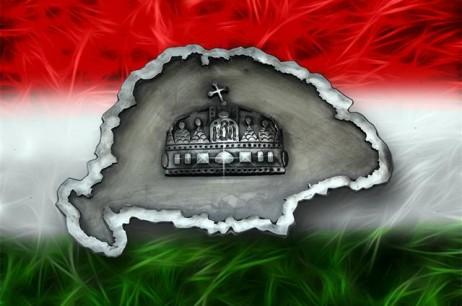 Nagy-Magyarország térkép koronával